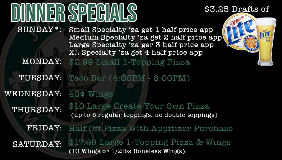 Johnny Malloy's Weekly Food Specials
